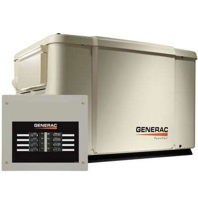 7,500-Watt Air Cooled Standby Generator with 8 Circuit 50 Amp Automatic Transfer Switch