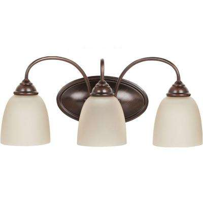Lemont 3-Light Burnt Sienna Vanity Fixture