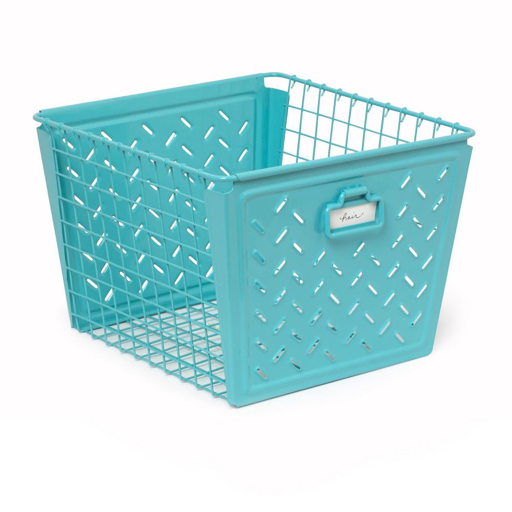 Macklin Large Metal Basket in Teal