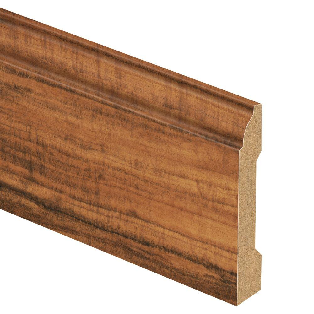 Zamma Hawaiian Curly Koa 9/16 in. Thick x 3-1/4 in. Wide x 94 in. Length Laminate Base Molding