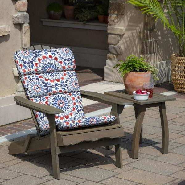 Arden Selections 20 X 45 5 Clark Outdoor Adirondack Chair Cushion Th1f129b D9z1 The Home Depot