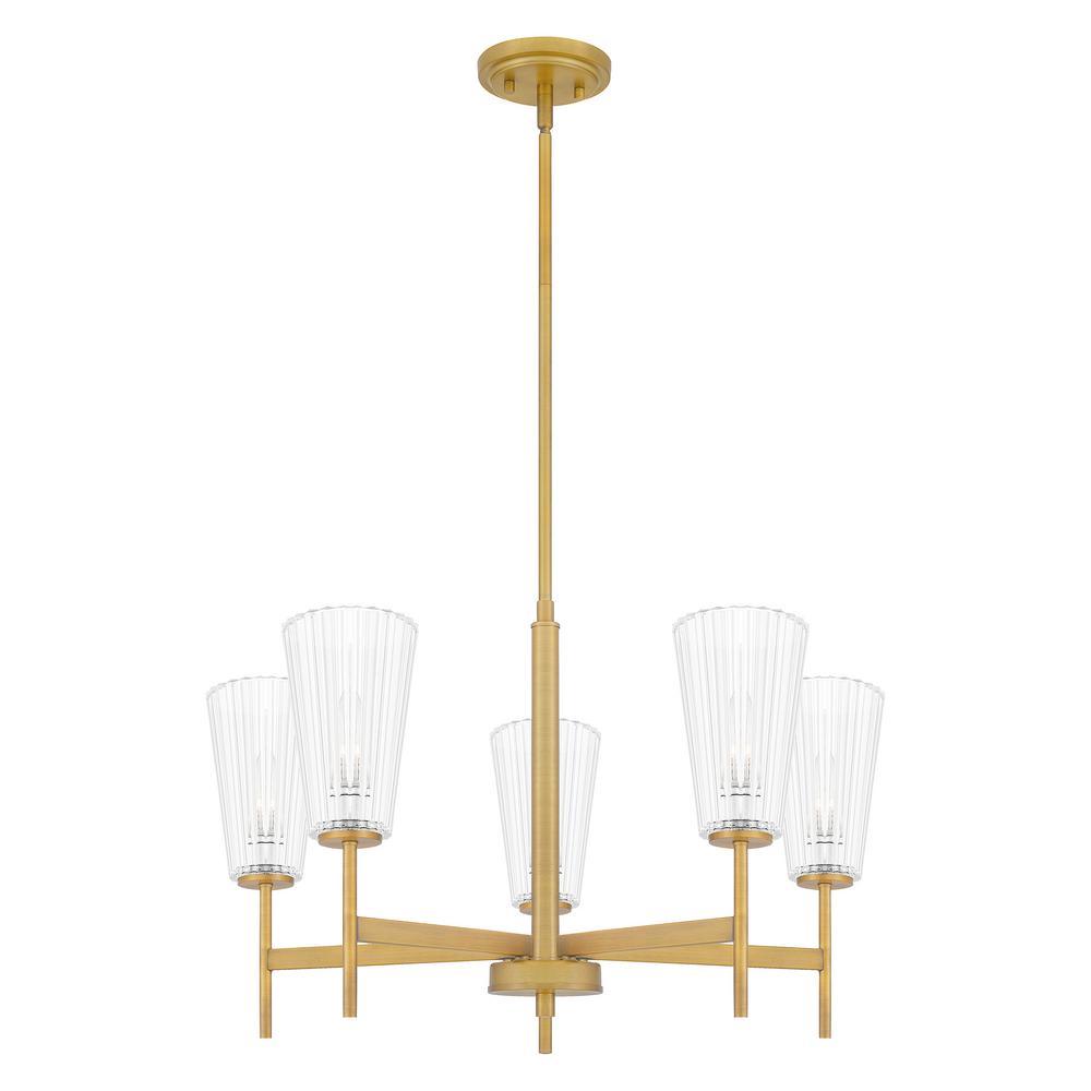 Mauldin 5-Light Aged Brass Chandelier