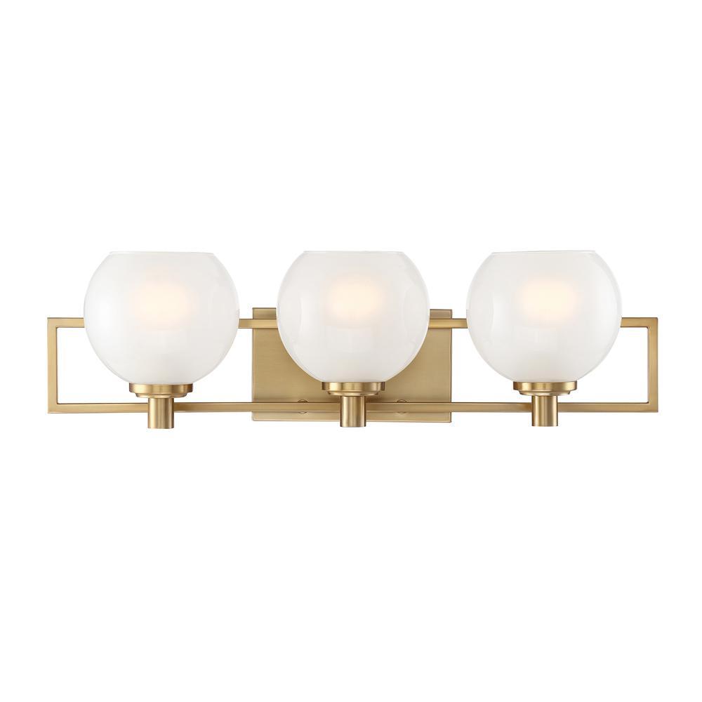 Cowen 3-Light Brushed Gold Interior Bath Bar Light