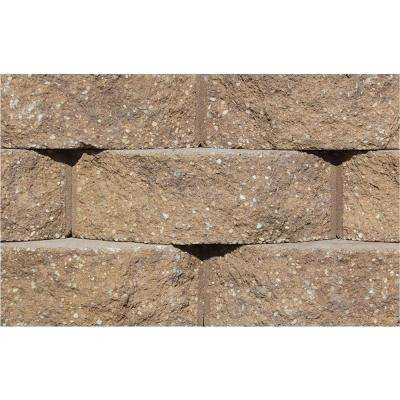 Cottage Stone 4 in. H x 12 in. W x 8.5 in. D Sandstone-Brown Concrete Garden Wall Block (96-Pieces/31.68 sq. ft./Pack)