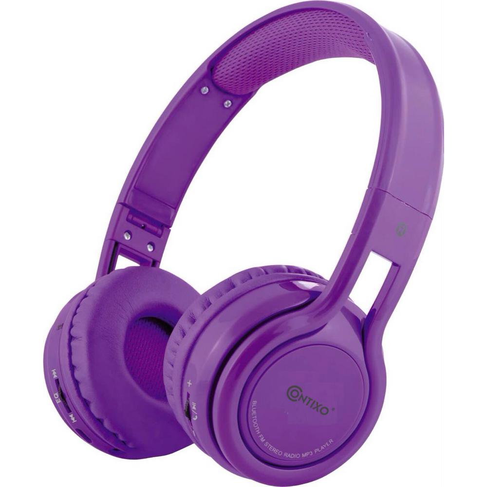 KB2600 Kid Safe 85db Foldable Wireless Bluetooth Headphone Built-in Microphone,