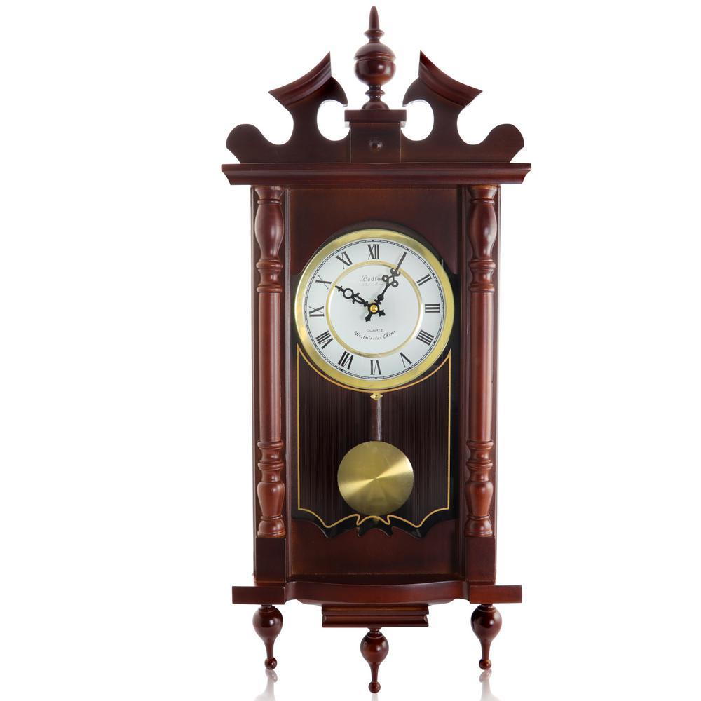Cherry Oak Pendulum Wall Clock