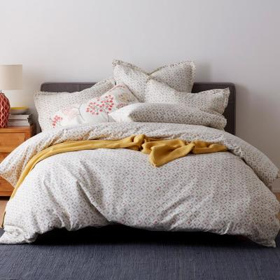 Karlie Geo Cotton Percale Duvet Cover