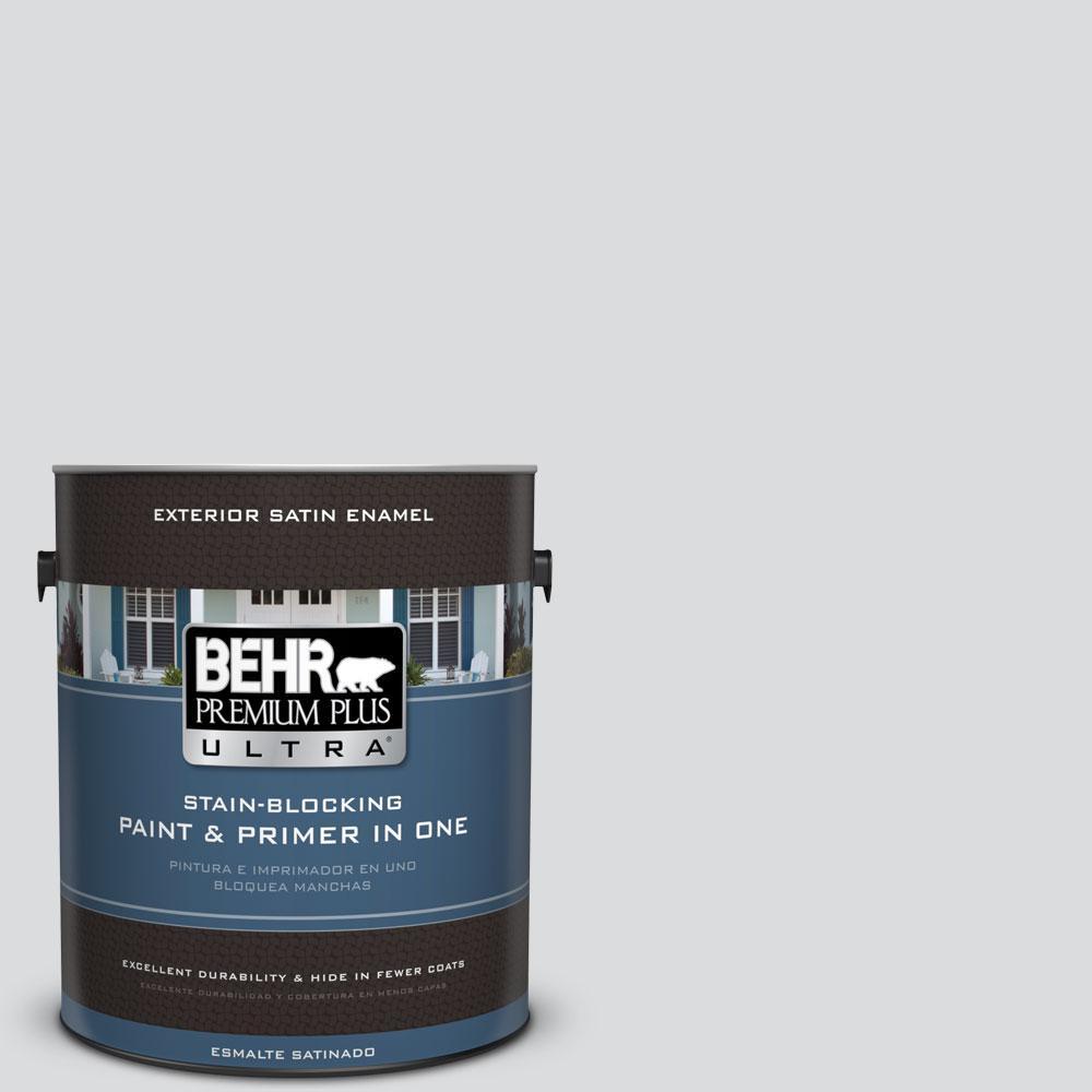 BEHR Premium Plus Ultra 1-gal. #N530-1 Pixel White Satin Enamel Exterior Paint