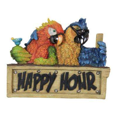 Solar Happy Hour Parrot Marquee