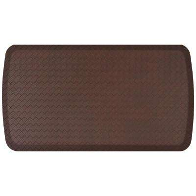 Elite Basketweave Truffle 20 in. x 36 in. Comfort Kitchen Mat
