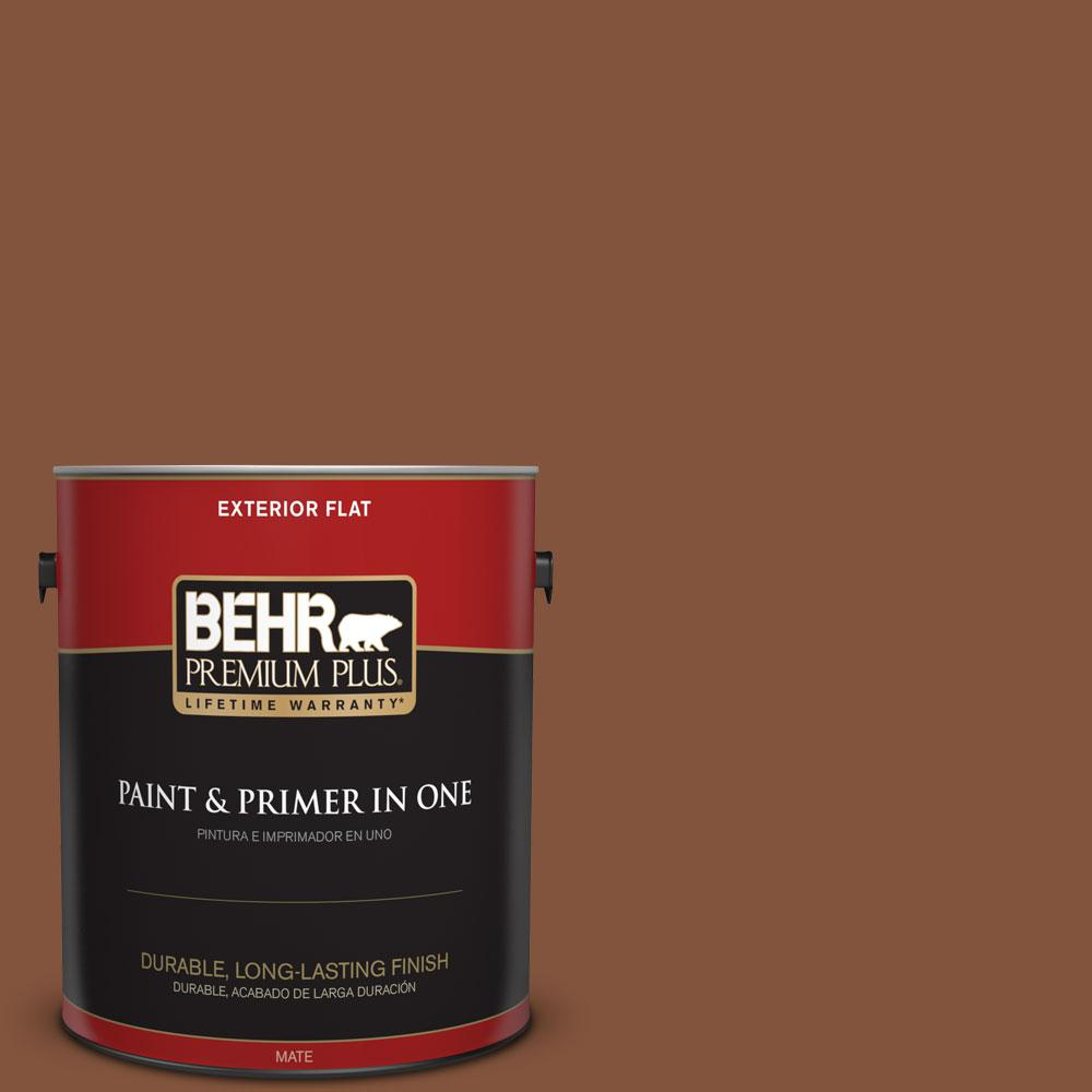 1-gal. #230F-7 Florence Brown Flat Exterior Paint