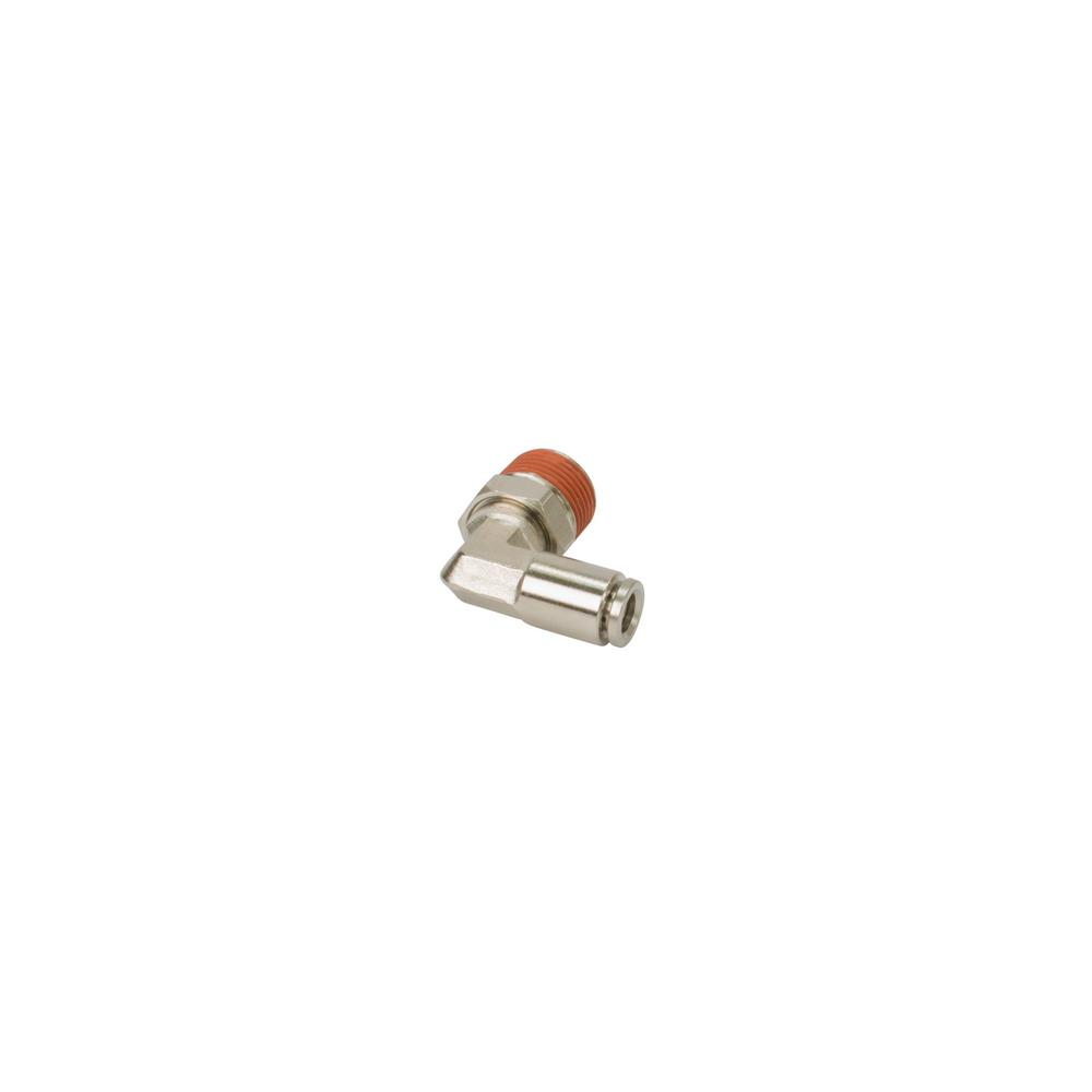 VIAIR 1/8 in  NPT(M) to 1/8 in  Airline 90-Degree Swivel Elbow Fitting  (2-Piece) DOT Approved