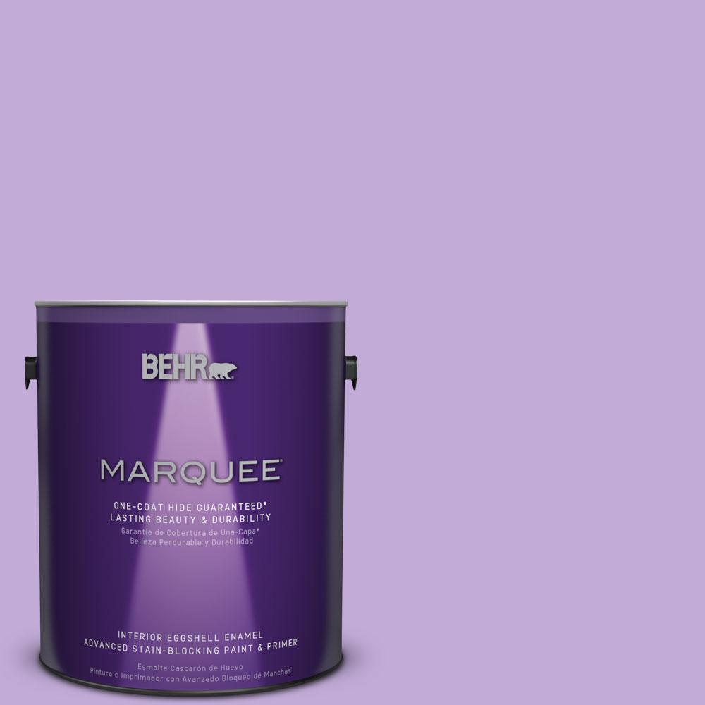 Mq4 59 Purple Gladiola One Coat Hide Eggshell Enamel Interior Paint And Primer In 245005 The Home Depot