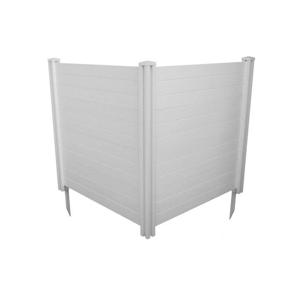 4 ft. x 4 ft. Premium White Vinyl Privacy Fence Panel Screen Enclosure