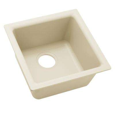 Quartz Luxe Drop-In/Undermount Composite 16 in. Bar Sink in Parchment