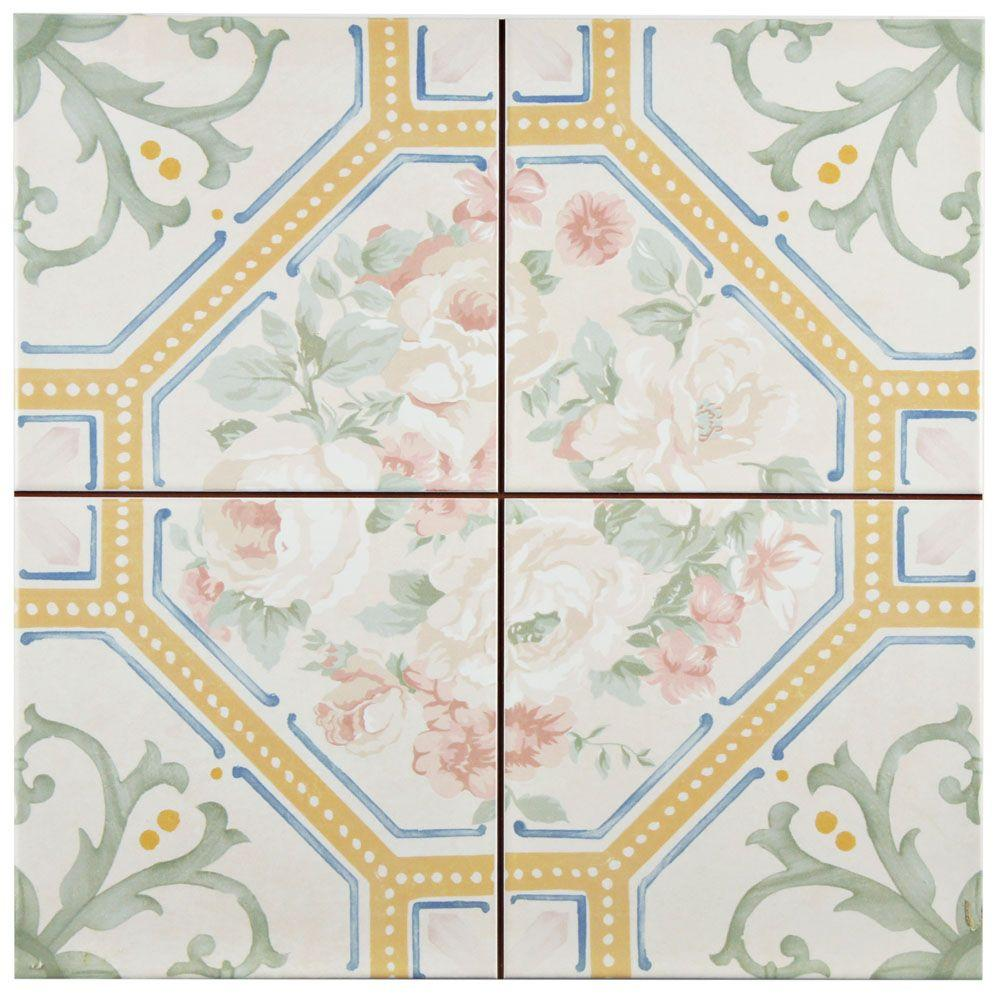 Merola tile victorian lure 13 in x 13 in ceramic floor and wall merola tile victorian lure 13 in x 13 in ceramic floor and wall tile dailygadgetfo Gallery