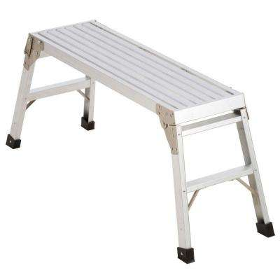 39-1/2 in. x 12 in. x 20-9/16 in. Aluminum Work Platform with 225 lb. Load Capacity