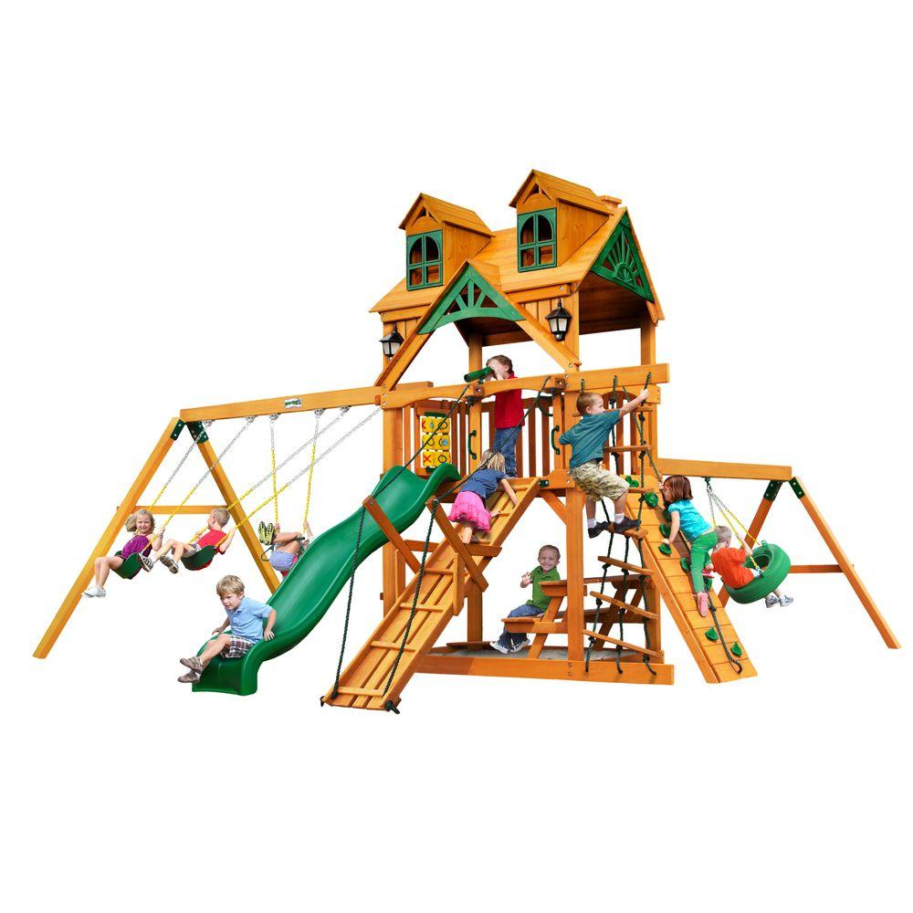 Malibu Frontier with Amber Posts Cedar Swing Set
