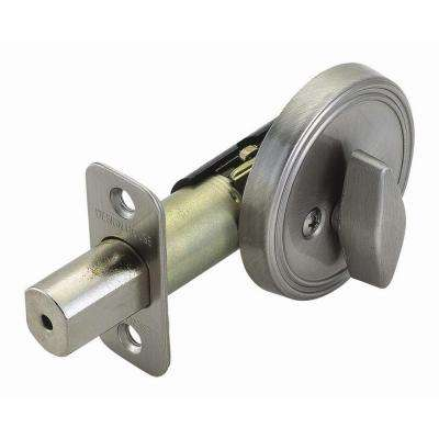 2 3/8 In. Backset Single Sided Satin Nickel Deadbolt With Turn