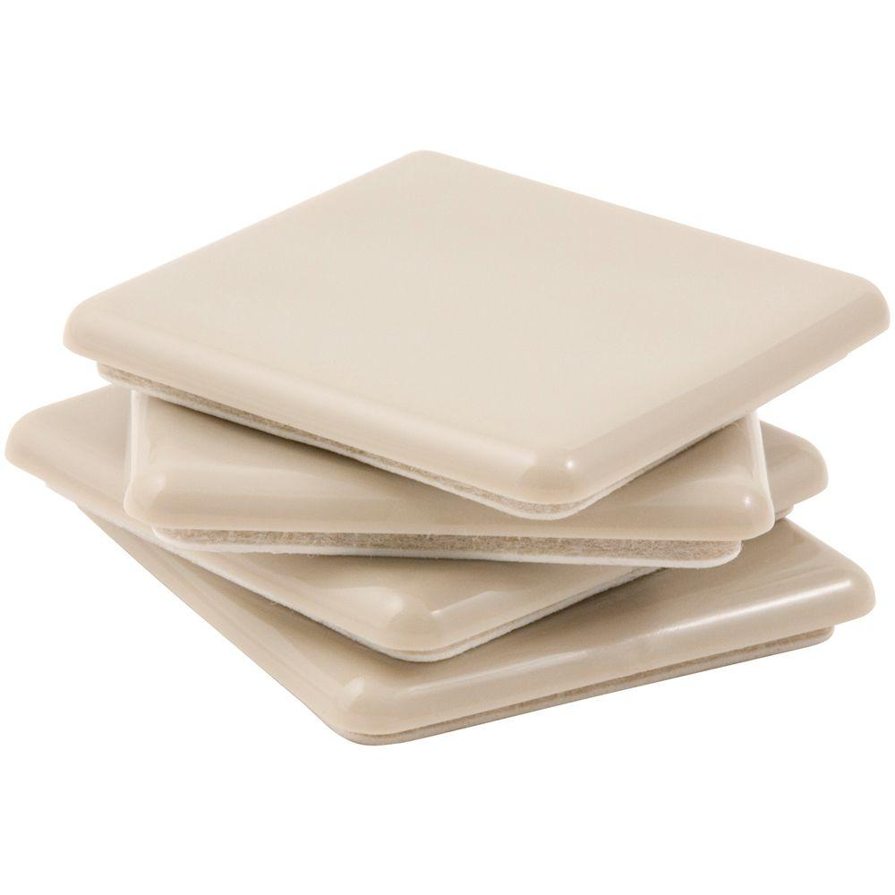 2 1/2 In. Square Mover With Adhesive (4 Per Pack)