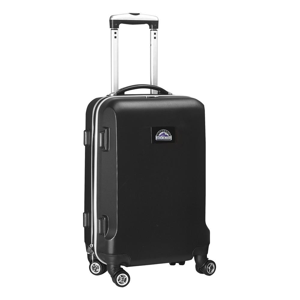 Denco MLB Colorado Rockies Black 21 in. Carry-On Hardcase Spinner Suitcase