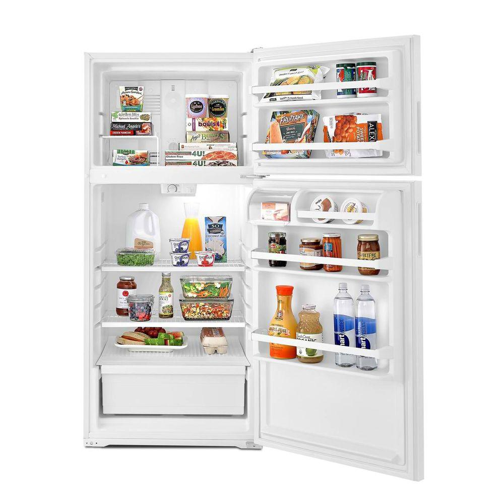 Amana 14 3 Cu Ft Top Freezer Refrigerator In White