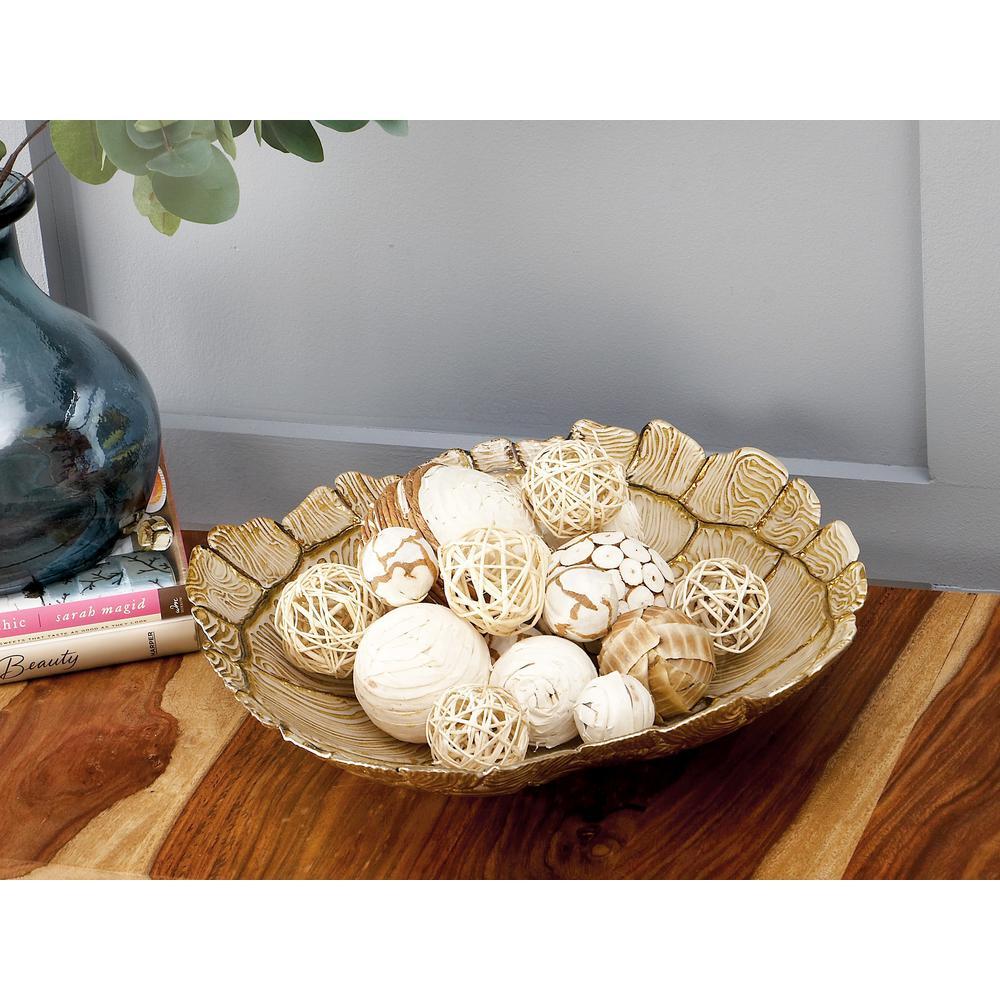 13 in. x 3 in. Coastal Living Glass Tortoise Shell Bowl