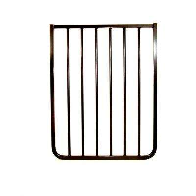 30 in. H x 21.75 in. W x 2 in. D Extension for Stairway Special or Auto Lock Gate Black
