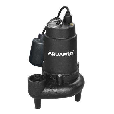 3/4 HP Submersible Sewage Pump with Piggyback Tether Float Switch