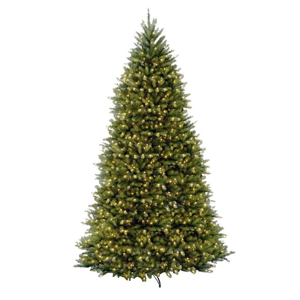 national tree company 12 ft pre lit dunhill fir hinged artificial christmas tree with - Best Place To Buy Artificial Christmas Tree