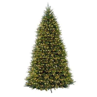 12 ft. Pre-Lit Dunhill Fir Hinged Artificial Christmas Tree with Clear Lights