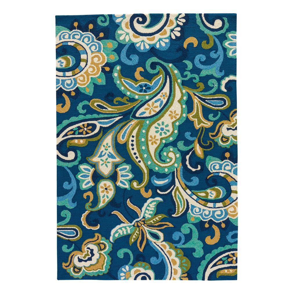 Daphne 8 ft. x 10 ft. Floral Indoor/Outdoor Area Rug