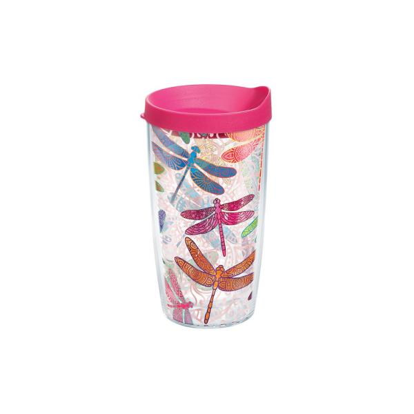 Tervis Dragonfly Mandala 16 oz. Clear Tumbler with Lid 1245293