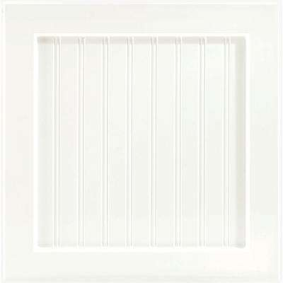 Shorebrook 14 9/16 x 14 1/2 in. Cabinet Door Sample in White