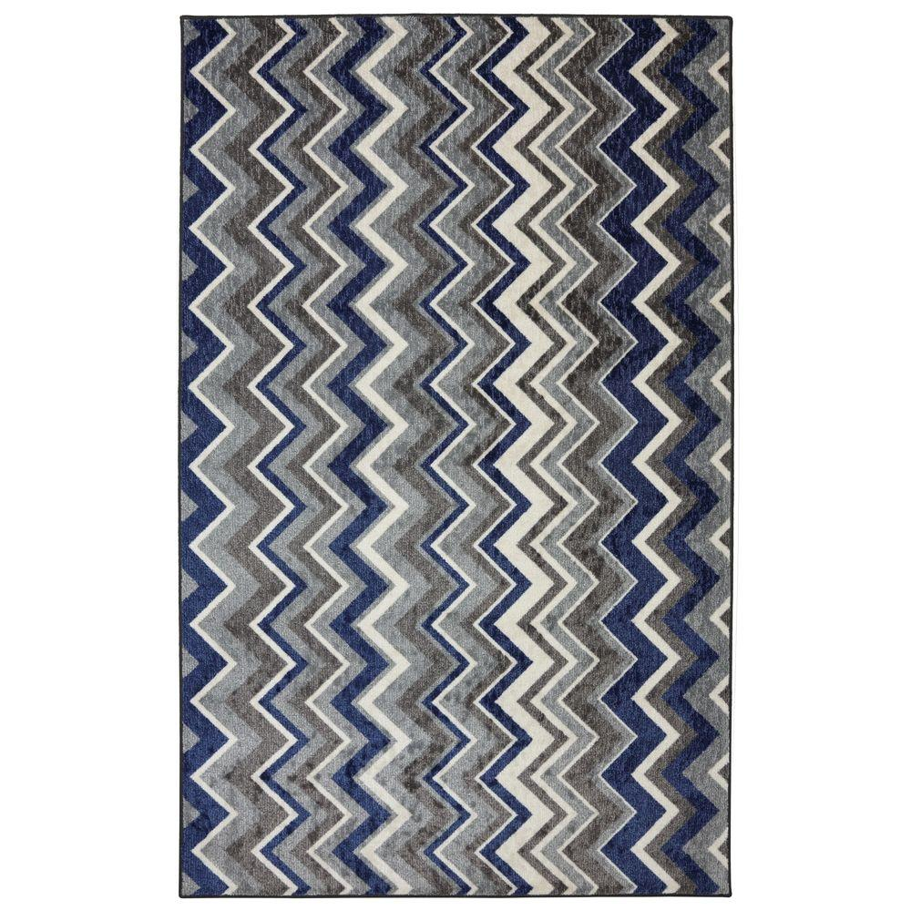Mohawk Home Ziggidy Royal 5 ft. x 8 ft. Area Rug