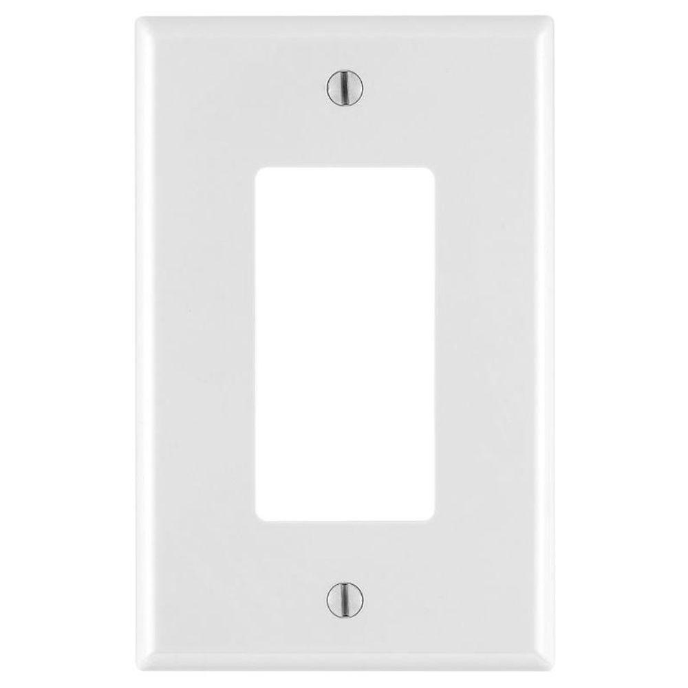 Decora 1-Gang Midway Nylon Wall Plate - White