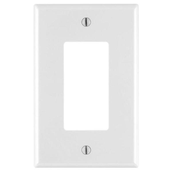 Decora 1-Gang Midway Nylon Wall Plate - White, 4-Pack, White