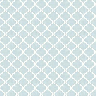 Watercolor Blue Quatrefoil Paper Strippable Roll (Covers 56.4 sq. ft.)