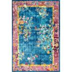 Nia Floral Chinese Blue 5 ft. x 8 ft.  Area Rug