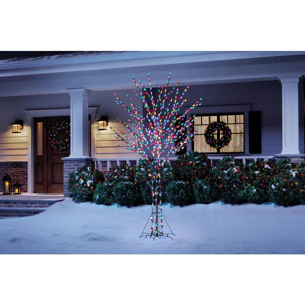 8 ft LED Pre-Lit Bare Branch Tree
