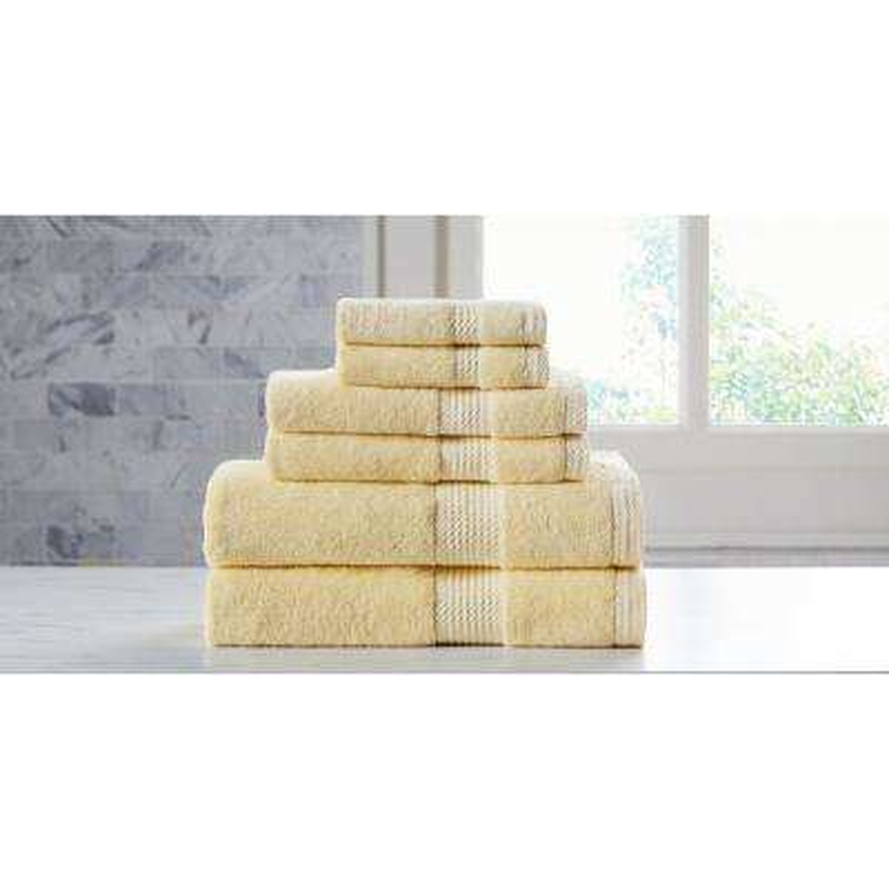Extravagant 6-Piece Yellow Slivadur Antibacterial Material Towel Set
