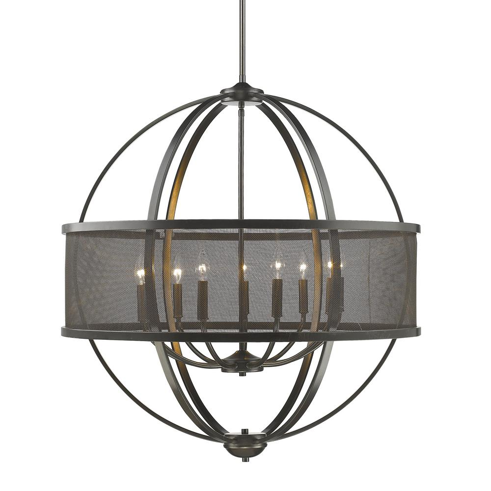 Golden Lighting Colson EB 9-Light Etruscan Bronze Chandelier
