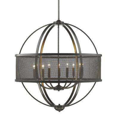 Colson EB 9-Light Etruscan Bronze Chandelier