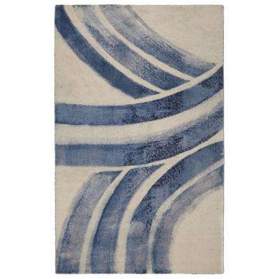 Slate Compass Contemporary Modern Slate 5 ft. 6 in. x 8 ft. 6 in. Area Rug