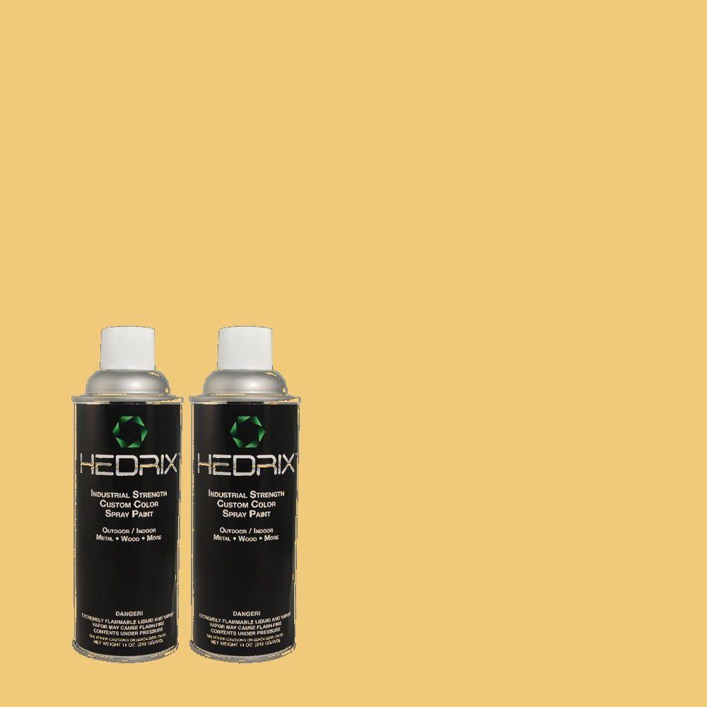 Hedrix 11 oz. Match of 2A8-4 Corn Tassel Low Lustre Custom Spray Paint (2-Pack)