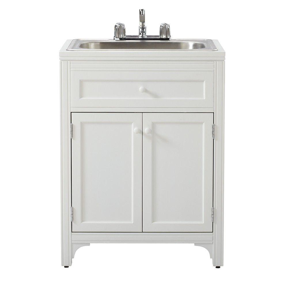 Martha Stewart Living 36 in. H x 27 in. W x 24 in. D Wood Laundry ...