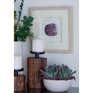 Multi-Colored Polystone and Wood Framed Gemstones and Agate Stones Wall Decor (Set of 4) by