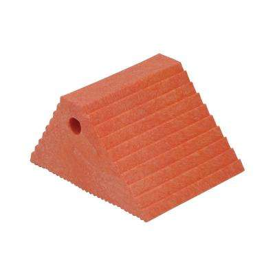 Recycled Orange Plastic Dual Slope Wheel Chock