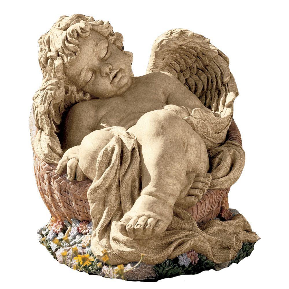 Design Toscano 8-3/4 in. Afternoon Nap Cherub Statue-DISCONTINUED