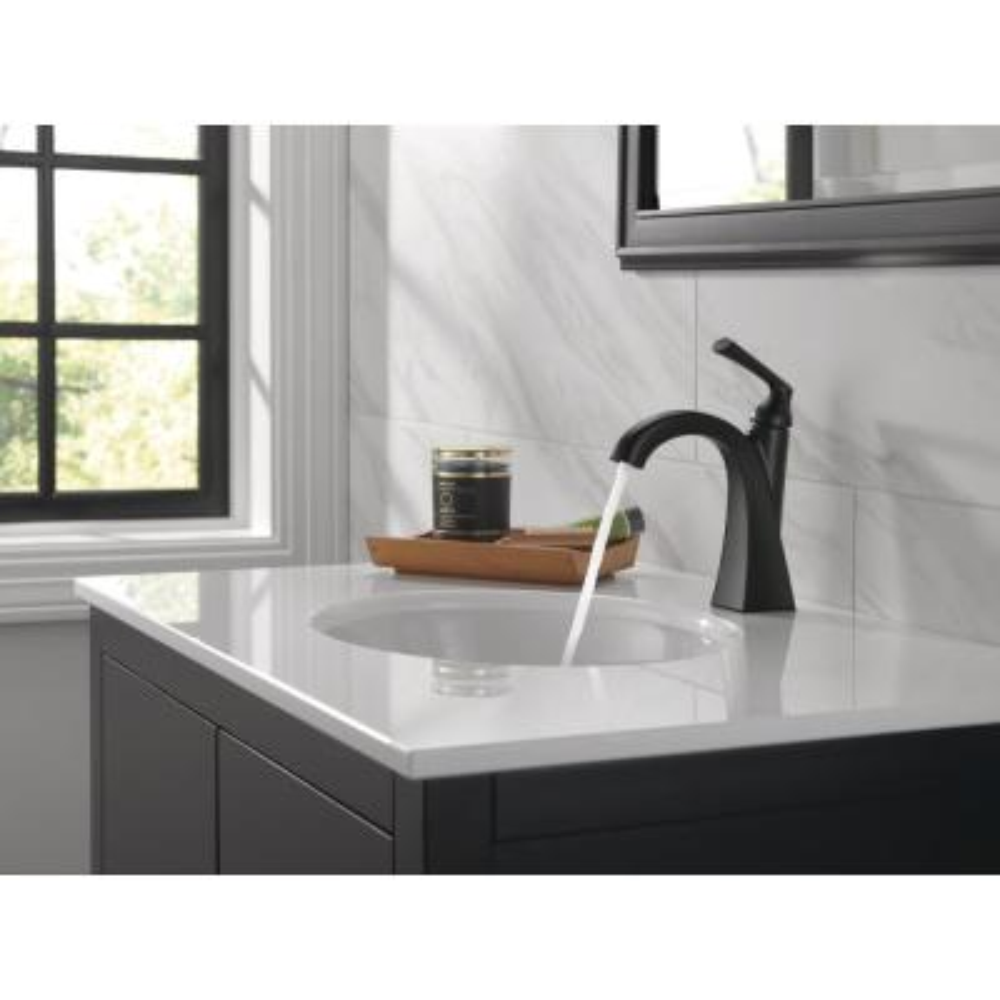 Pierce Single Hole Single-Handle Bathroom Faucet in Matte Black